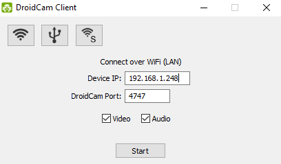 Use your Android phone as a webcam for Streamlabs - Start Debugging